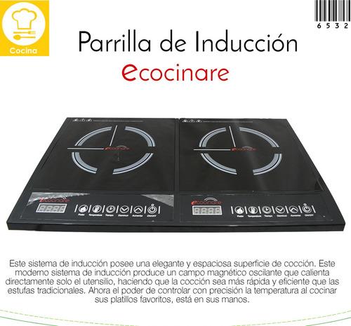 parrilla inducción magnética cristal 2 zona 100%nueva estufa