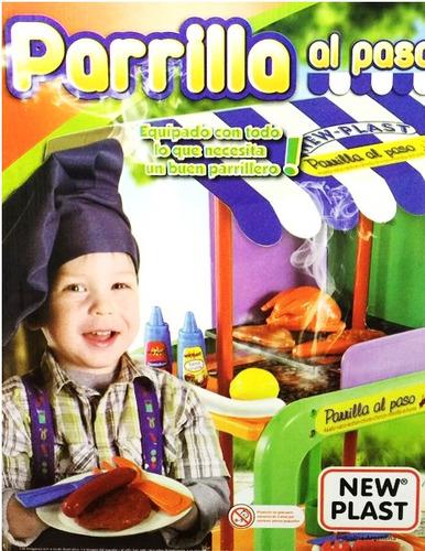 parrilla infantil carrito cocina asador asado new plast