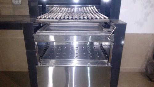 parrilla inoxidable con caja china para empotrar