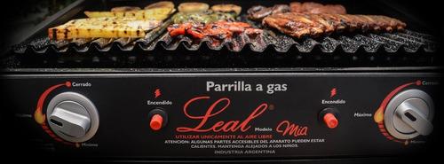 parrilla leal portatil sobremesada gas encendido con tapa