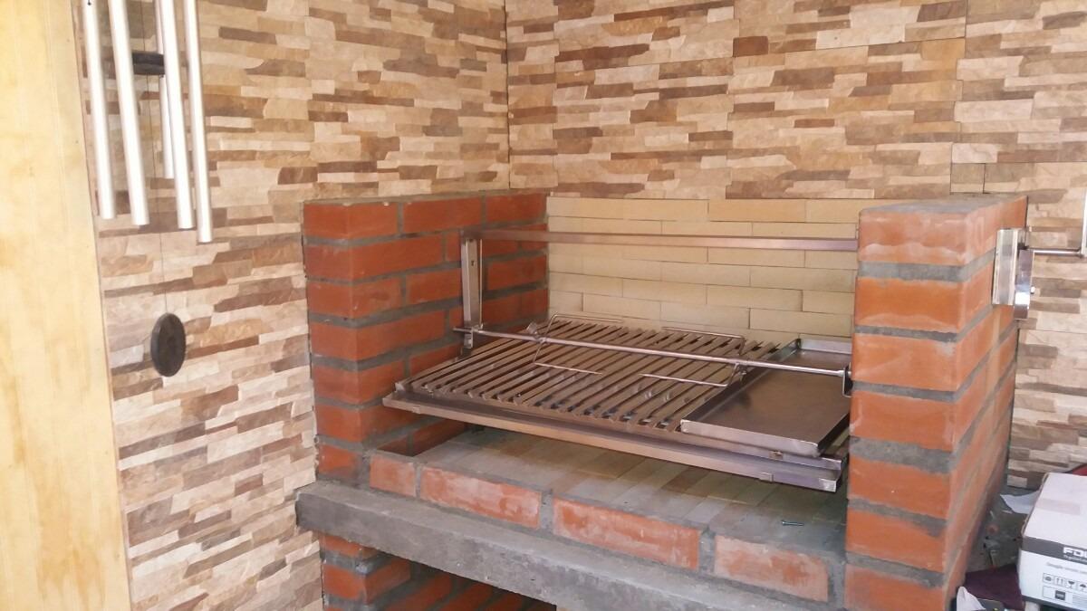 Parrilla para asados en acero inoxidable en Construir una pileta de ladrillos