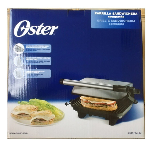 parrilla para paninis oster ckstpa2880 placas antiadherentes