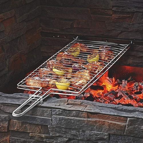 parrilla para pescado carnes camping asado 85 x 21