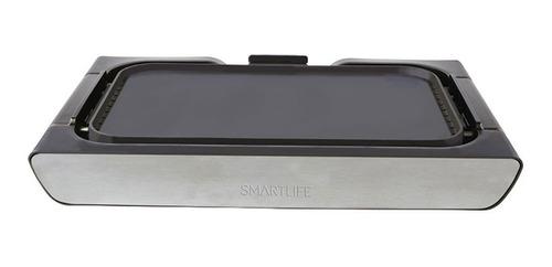 parrilla plancha eléctrica smartlife 2 en 1 sl-grd0008 pce