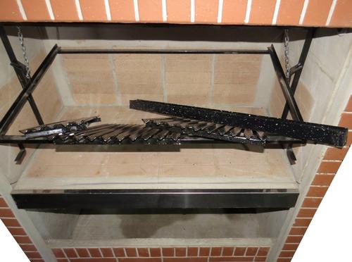 parrilla premoldeada 1,25 m simil ladrillo aquituparrilla