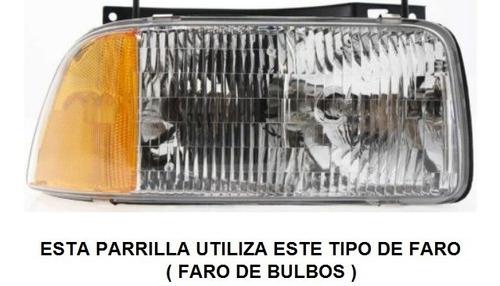 parrilla preparada para pintar gmc sonoma 1994 - 1997 nueva!