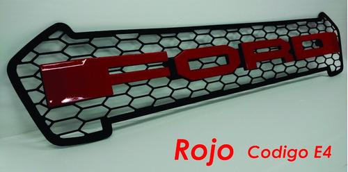 parrilla raptor ford ranger t7 2015 + roja/bca/nga/plata rc