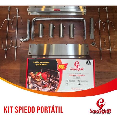 parrilla spiedo automatic 4 espadas a pilas/fuente 5 volt.