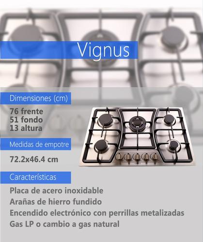 parrilla vignus 36 inox 76cm 5q enc elect arañas h. f.