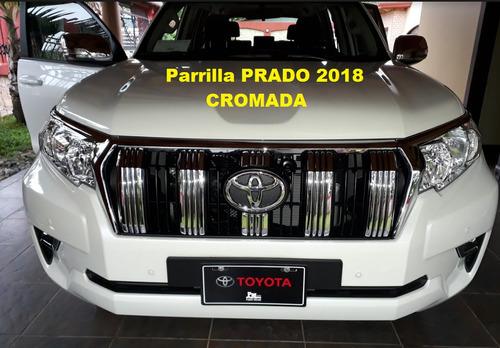 parrillas cromadas para toyota prado 2019-2010