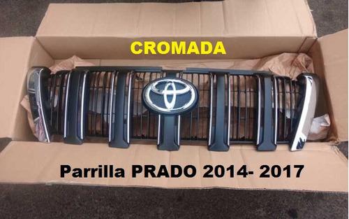 parrillas cromadas para toyota prado 2020-2010