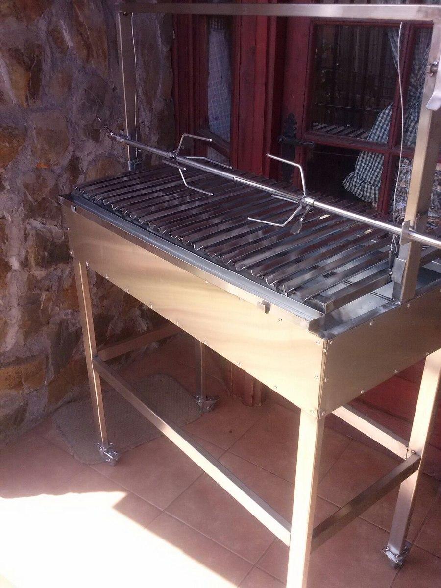 Parrillas para asados en acero inoxidable en for Percheros de acero inoxidable