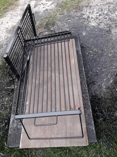 parrillas para camping patas plegable de 30x50 reforzada