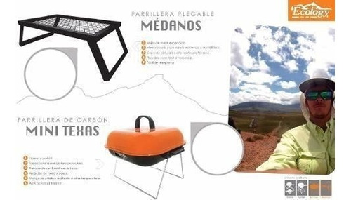 parrillera de carbón plegable portatil para camping ecology