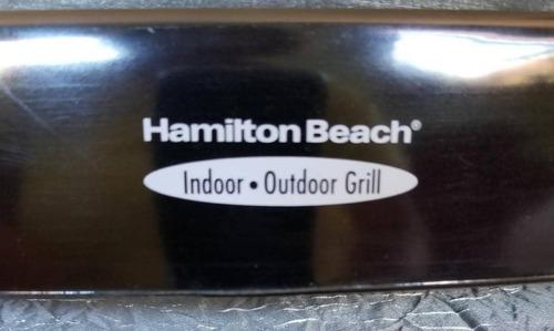 parrillera eléctrica hamilton beach.