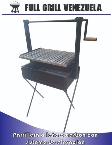 parrillera para leña o carbon en acero inoxidable