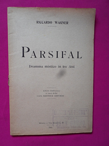 parsifal - riccardo wagner