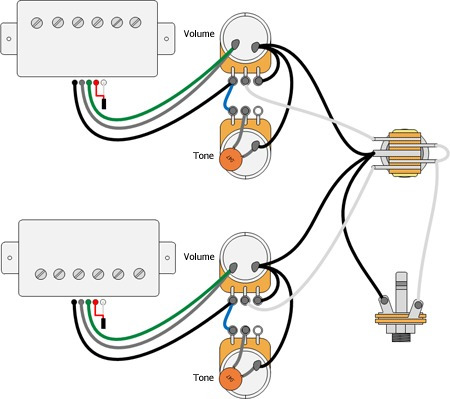 Electric Guitar Humbucker Wiring Diagrams on for indo espier, for squier stratocaster, single humbucker pickup, fender stratocaster, built speaker,