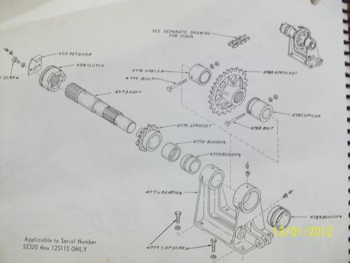 parte para draga bucyrus erie 30b intermediate shaft catead