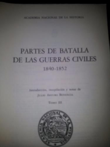 partes de batalla delas guerras civiles