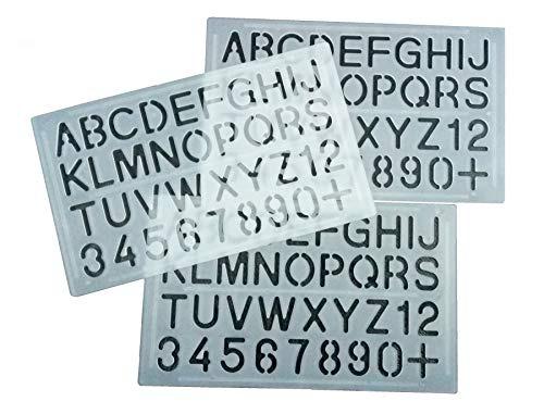 Parth Impex Plantillas De Letras Y Numeros Paquete De 3 Num