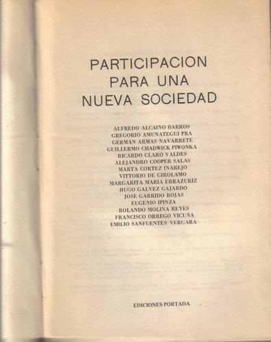 participación para una nueva sociedad / portada