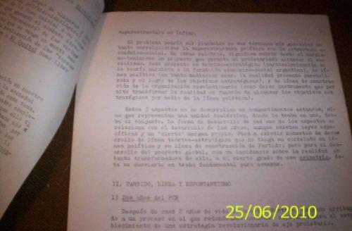 partido comunista documento mimeografiado 1969 historia