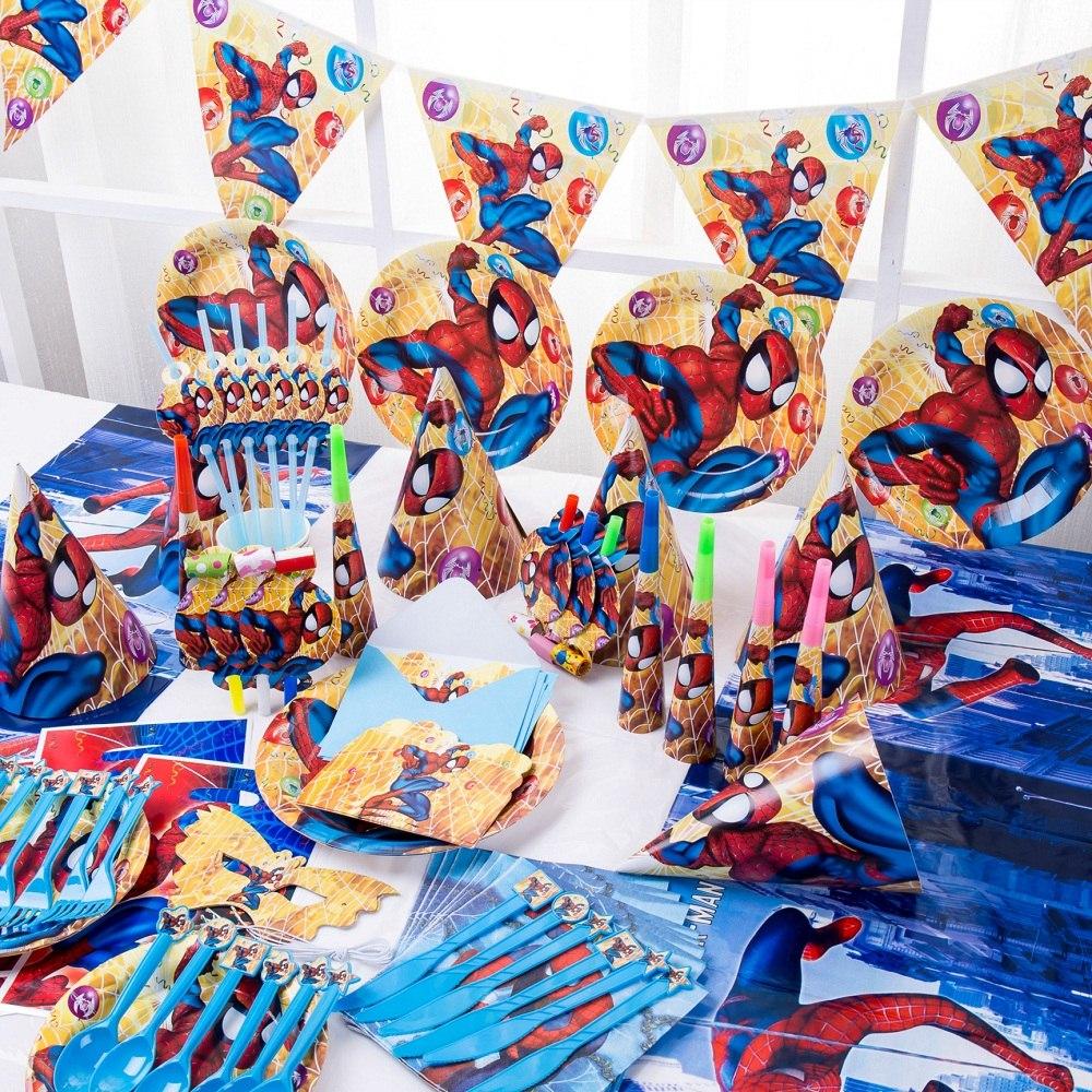 Partido Cumpleaños Niños Suministros Decoración Spiderman