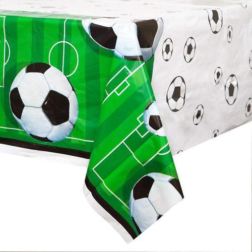 partido de fútbol de plástico mantel, 84 x 54
