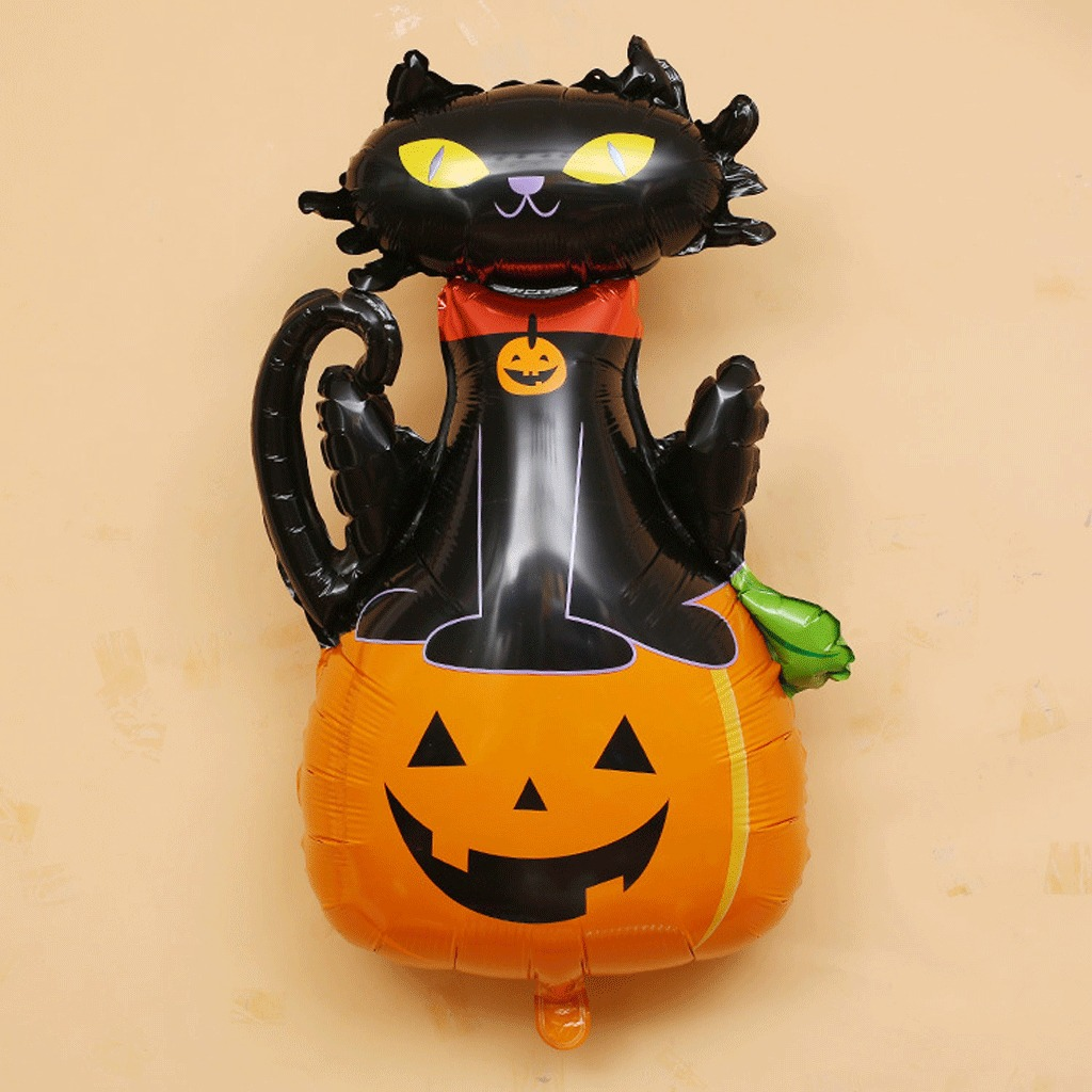 Partido globo de halloween calabaza gato negro El gato negro decoracion