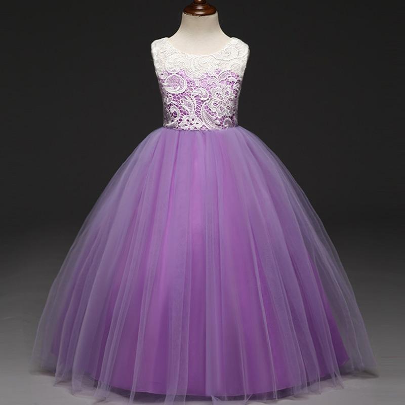 Partido Princesa Flor Vestido Para Niñas Chica Elegante Pas