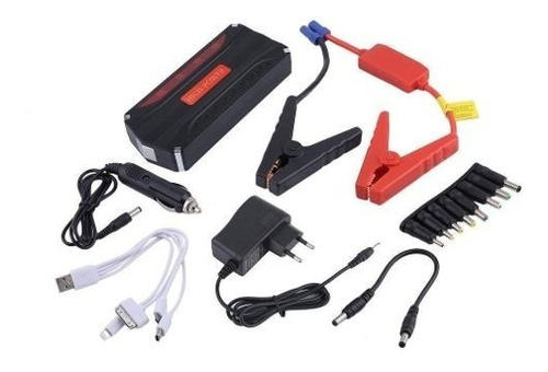 partidor cargador powerbank bateria auto + inflador de rueda