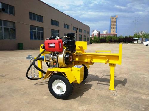 partidor leña industrial diesel remolque 42t 61cm fes77
