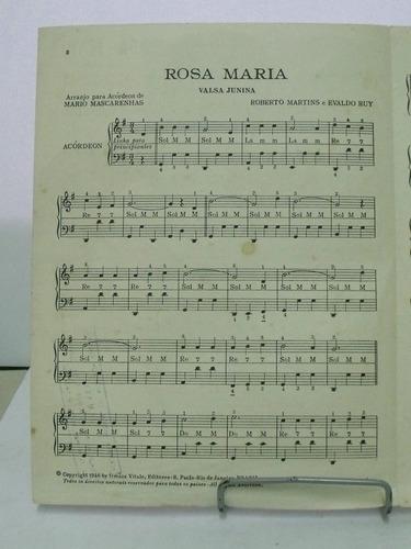 partitura acordeon valsa  rosa maria mario mascarenhas