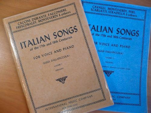 partitura arias italianas siglos xvii xviii  ópera mezzo
