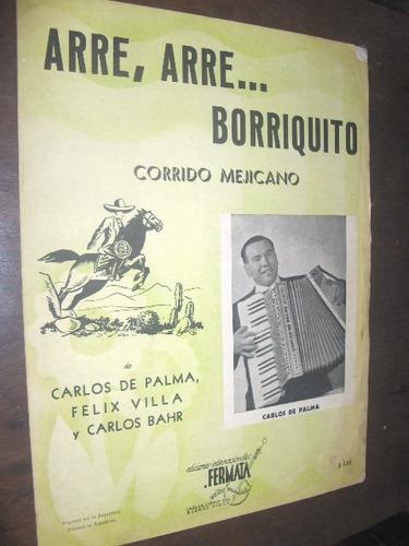 partitura arre arre borriquito carlos palma 1945