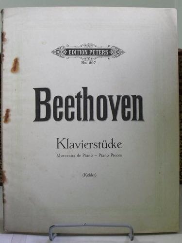 partitura beethoven klavierstucke  piano pieces kolher pz8