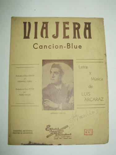 partitura blues viajera luis alcaraz edami arg 1952