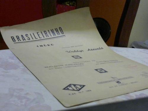 partitura brasileirinho - waldyr azevedo