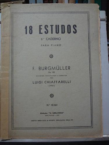 partitura burgmuller 18 estudos op.109 v.2 para piano pz8