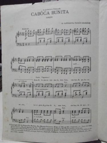 partitura cabôca bunita - catullo da paixão cearense pz8