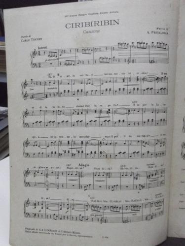 partitura ciribiribin  canção pestalozza  carlos tiochet pz8