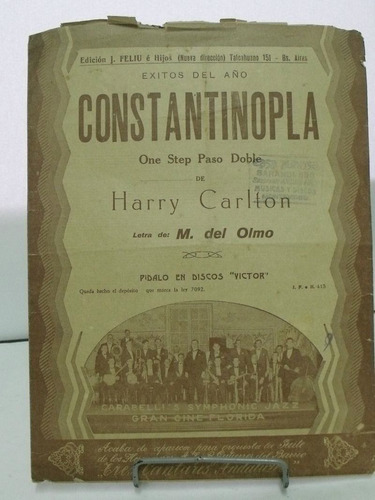 partitura constantinopla harry carlton