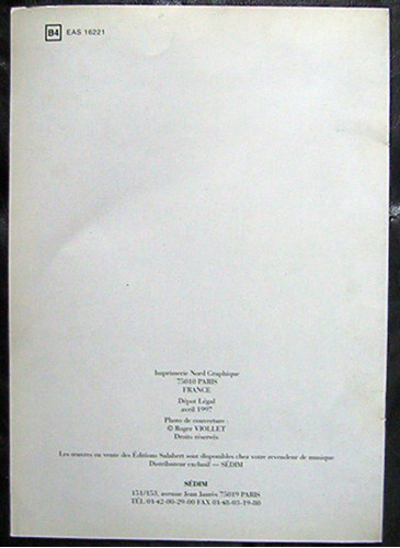 partitura danzas españolas vol. 5 editions salabert paris