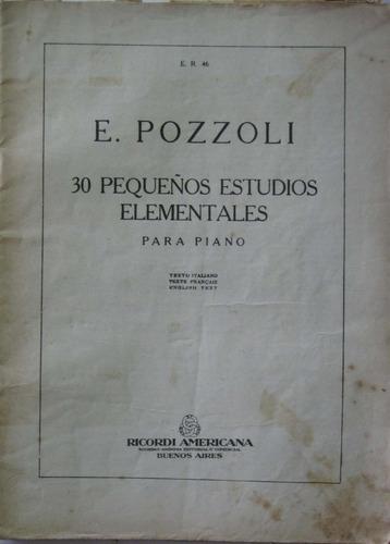 partitura e pozzoli 30 pequeños estudios elementales piano