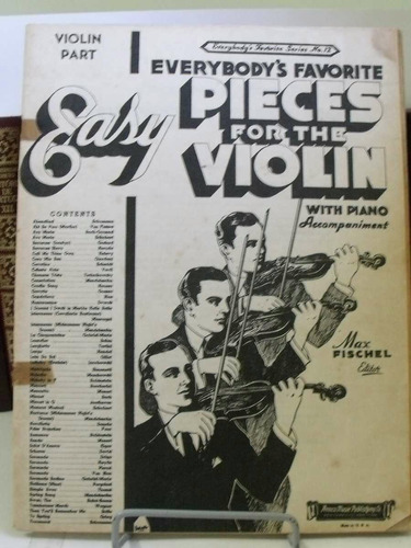 partitura easy pieces violin with piano nº 12 sem a capa pz8