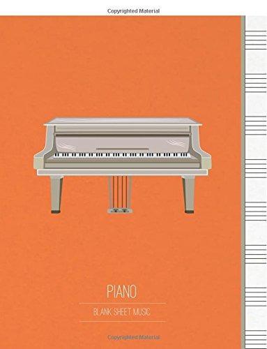 partitura en blanco para piano musica manuscrito personal pa
