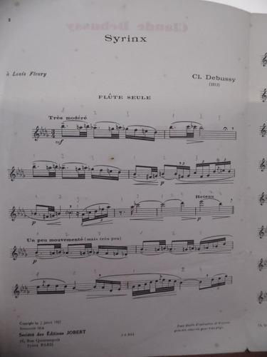 partitura flauta  syrinx  claude debussy