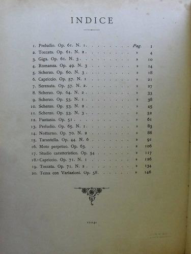 partitura g. martucci 20 pezzi  piano alessandro longo pz8