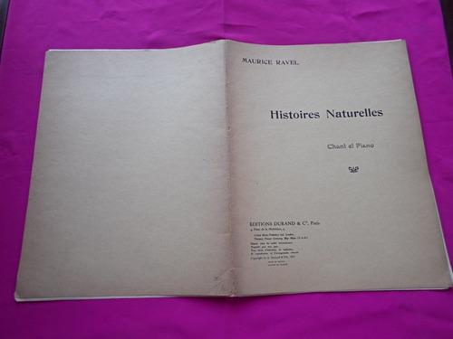 partitura histoires naturelles - maurice ravel